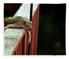 Resting Squirrel Fleece Blanket