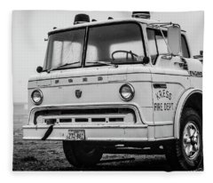 Retired Fire Truck Fleece Blanket