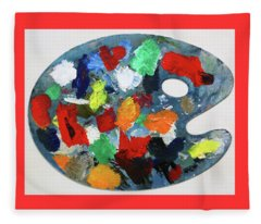 The Artists Palette Fleece Blanket