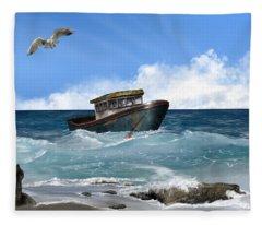 Retiring From The Fleet Fleece Blanket