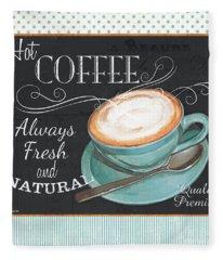 Retro Coffee 1 Fleece Blanket