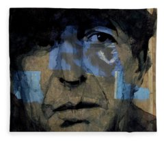 Retro- Famous Blue Raincoat  Fleece Blanket