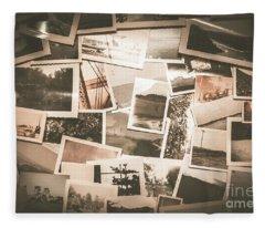 Retro Photo Album Background Fleece Blanket