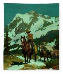 Return From The Hunt Fleece Blanket