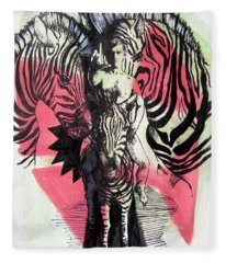 Return Of Zebra Boy Fleece Blanket