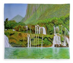 Returned To Paradise Fleece Blanket