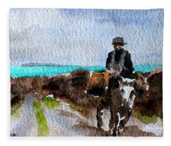 F 764  Returning Home, Doon Beg, Clare Fleece Blanket