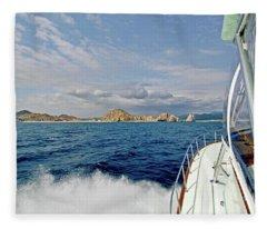 Returning To Port Fleece Blanket