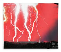 Lightning Apocalypse Fleece Blanket
