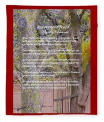 Reverence Of Trees Fleece Blanket