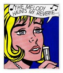 The Melody Haunts My Reverie - Signed  Fleece Blanket