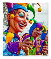 Rex Mardi Gras Parade Xi Fleece Blanket