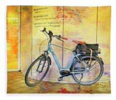 Reykjavik Museum Of Photography Bicycle Fleece Blanket