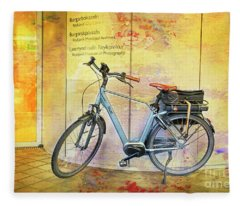Reykjavik Museum Of Photography Bicycle Fleece Blanket
