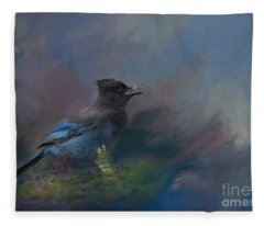 Rhapsody In Blue Fleece Blanket