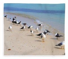 Rhapsody In Seabird Fleece Blanket