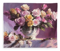 Rhapsody Of Roses Fleece Blanket