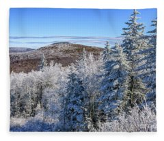 Rhime Ice Highlands West Virginia Fleece Blanket