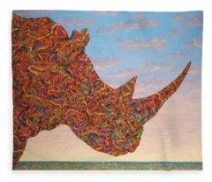 Rhino-shape Fleece Blanket