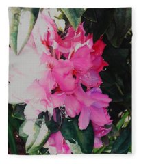 Rhodies Fleece Blanket