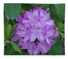Rhododendron Flower Fleece Blanket