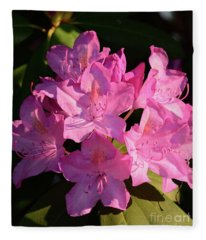Rhododendron In The Limelight Fleece Blanket