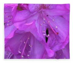Rhododendron With Ant Fleece Blanket