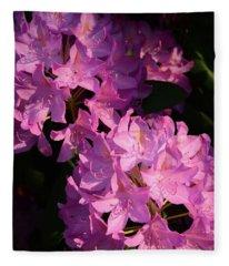 Rhododendron X 2 Fleece Blanket