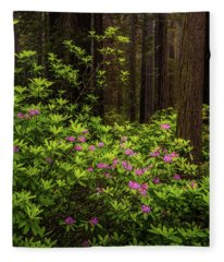 Rhododendrons Fleece Blanket