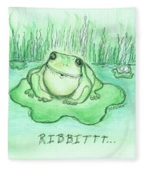 Ribbittt.... Fleece Blanket