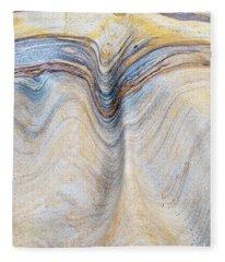 Ribbon Of Rock Fleece Blanket