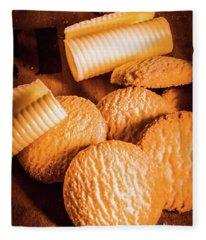 Rich Buttery Shortbread Biscuits Fleece Blanket