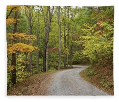 Rich Mountain Road Fleece Blanket