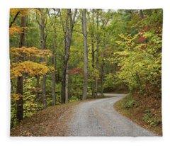 Rich Mountain Road Fleece Blanket
