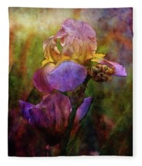 Rich Purple Irises 0056 Idp_22 Fleece Blanket