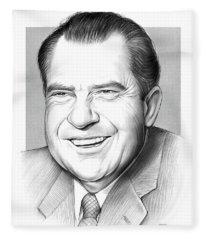 Richard Nixon Fleece Blanket
