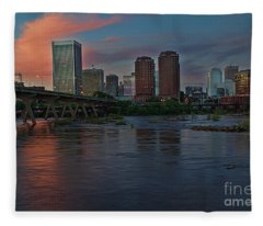 Richmond Dusk Skyline Fleece Blanket
