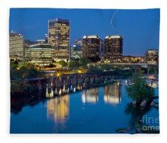 Richmond Skyline Helo Trail Fleece Blanket