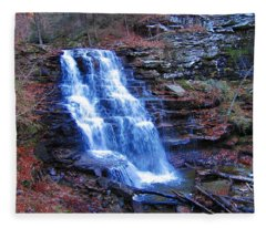 Ricketts Glen Waterfall 3941  Fleece Blanket