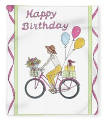 Ride In Style - Happy Birthday Fleece Blanket