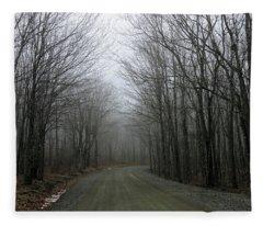 Ride In The Forest Fleece Blanket