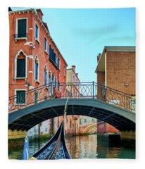Ride On Venetian Roads Fleece Blanket