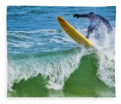 Ride The Wave Fleece Blanket