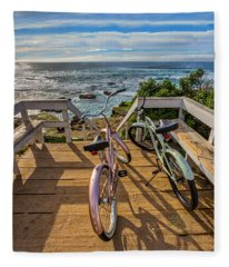 Ride With Me To The Beach Fleece Blanket