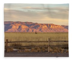 Ridge Outside Alamogordo Fleece Blanket