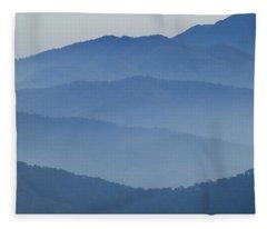 Ridgelines Great Smoky Mountains Fleece Blanket