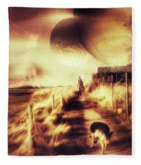 Riding Offworld Fleece Blanket