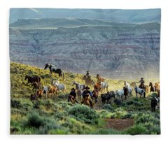 Riding Out Of The Sunrise Fleece Blanket