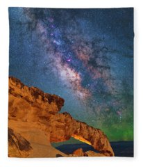 Riding Over The Arch Fleece Blanket