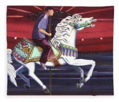 Riding The Carousel Fleece Blanket
